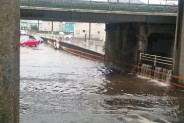 道路冠水のイメージ