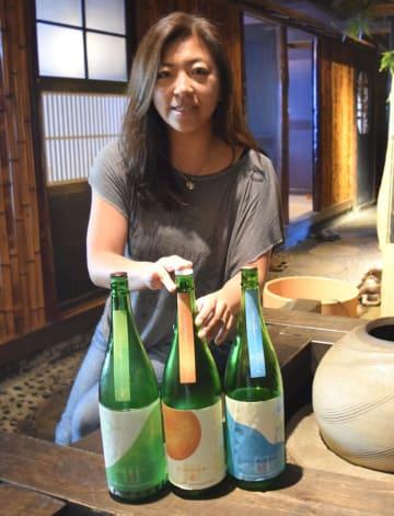 千葉日本酒活性化プロジェクトで造った酒を披露する林さん=茂原市内
