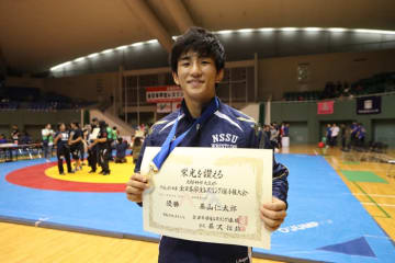 6月の全日本選抜選手権に続き、全日本学生選手権も制した日体大1年生の基山仁太郎