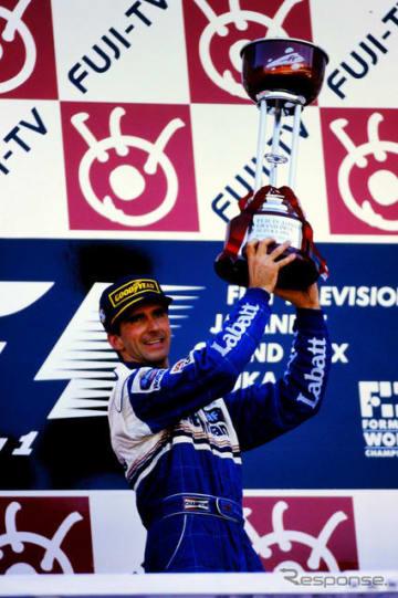 1996年F1日本グランプリでのデイモン・ヒル