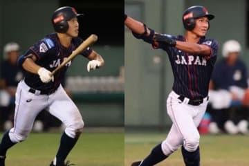 侍ジャパンU-18代表・小園海斗と藤原恭大(左から)【写真:荒川祐史】