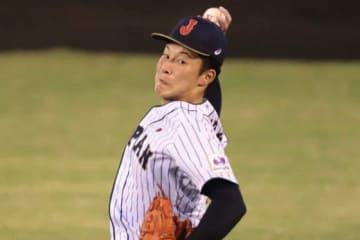 6回3失点で降板した侍ジャパンU-18代表・吉田輝星【写真:荒川祐史】