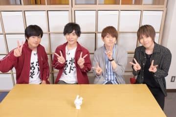 ▲左より堀江瞬さん、岡本信彦さん、天﨑滉平さん、小松昌平さん