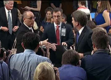 Brett Kavanaugh refuses to shake the hand of Fred Guttenberg, the father of the Parkland Shooting victim