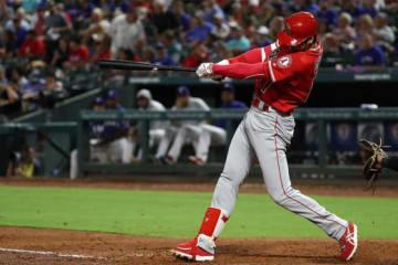6日のレンジャーズ戦で2本塁打を放つ大活躍を見せたエンゼルス・大谷翔平【写真:Getty Images】