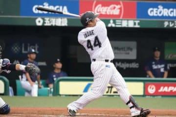 20号本塁打を放ったロッテ・井上晴哉【写真:荒川祐史】