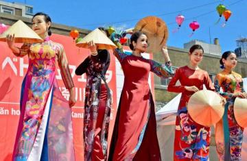 ベトナム文化を紹介するステージイベント=横浜市中区