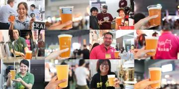 けやきひろば 秋のビール祭り ビールリレー