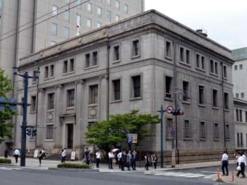 復元工事の入札不調が続く旧日本銀行広島支店