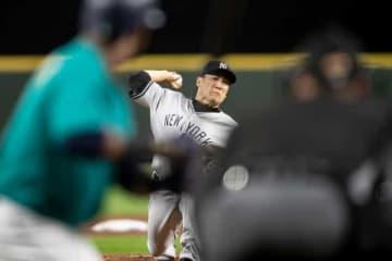 マリナーズ打線相手に圧巻の投球を披露したヤンキース・田中将大【写真:Getty Images】