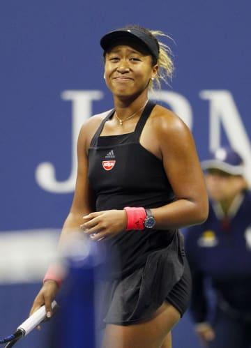 全米オープンテニスの女子シングルス決勝で、セリーナ・ウィリアムズを破って初制覇を果たした大坂なおみ=8日、ニューヨーク(共同)