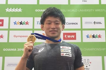 ロシア戦を含めて3戦全勝をマーク、国際大会初の金メダル獲得の北岡佑介(自衛隊)