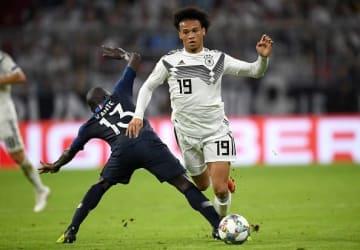 代表復帰を果たし、フランス戦では途中出場していたサネ photo/Getty Images
