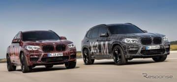 BMW X4M とBMW X3M の開発プロトタイプ車