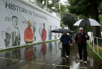 最終ラウンドは朝から降り続いた雨により順延となった Photo by Hunter Martin/Getty Images