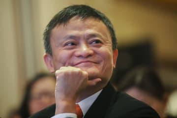 アリババグループの馬雲会長=6月、香港(AP=共同)
