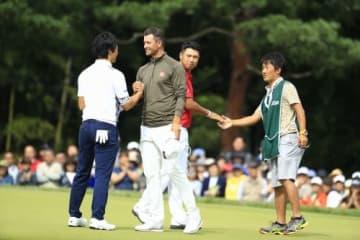 石川遼、松山英樹との共演から2年 アダム・スコット(中央)が日本オープンに帰ってくる!(撮影:米山聡明)