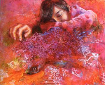 中武さんの受賞作「imagination」(油彩、30号)