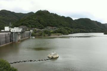 貯水率が回復した耶馬渓ダム=10日、中津市