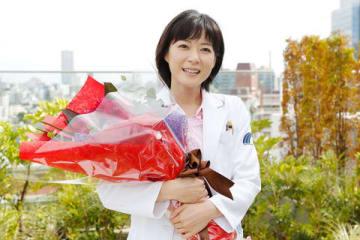 連続ドラマ「グッド・ドクター」の撮影を終えた上野樹里さん=フジテレビ提供