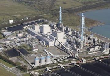 北海道電力の苫東厚真火力発電所=6日、北海道厚真町