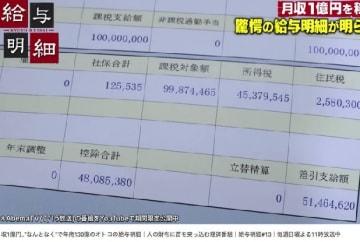 「青汁王子」の給与明細・AbemaTV公開の番組(YouTubeから)