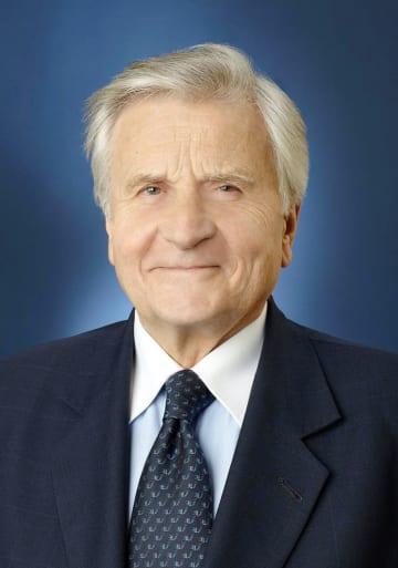 欧州中央銀行のトリシェ前総裁(フランス中央銀行提供、共同)