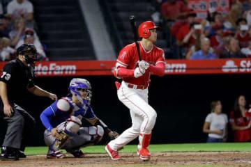 今季19度目のマルチ安打を記録したエンゼルス・大谷翔平【写真:AP】