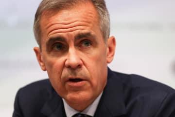 イングランド銀行のカーニー総裁(ロイター=共同)