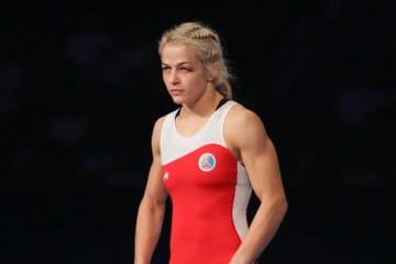 最軽量級の世界トップレベルをキープしているマリア・スタドニク(アゼルバイジャン)=写真は2015年世界選手権