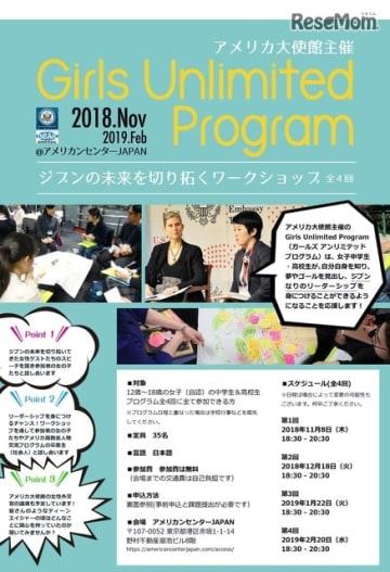 Girls Unlimited Program2018~ジブンの未来を切り拓くワークショップ~