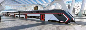 日立製作所がイタリアで納入を予定する2階建て鉄道車両のイメージ(日立製作所提供)