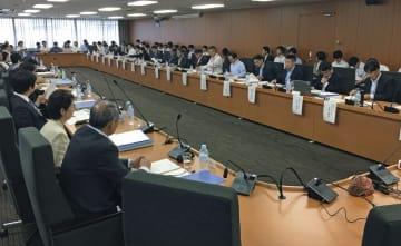 海賊版サイト対策を検討する政府の有識者会議=13日午前、東京都千代田区