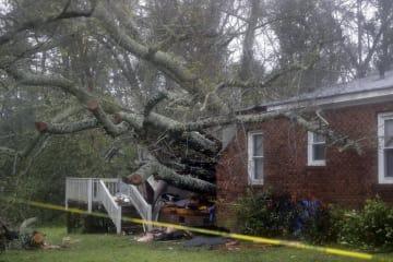 ハリケーン「フローレンス」で被害を受けたノースカロライナ州の住宅=14日、ウィルミントン(AP=共同)