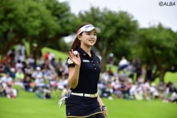 中国美女セキ・ユウティンがツアー初Vに王手をかけた(撮影:上山敬太)