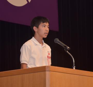 県知事賞を受賞した青木大翔さん=龍ケ崎市馴馬町