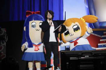 「ポプテピピック」の新作が制作されることが発表されたイベント「ポプテピピックスペシャルイベント ~POP CAST EPIC!!」の様子(C)大川ぶくぶ/竹書房・キングレコード