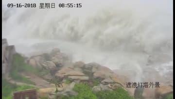 台風22号、中国広東省に上陸