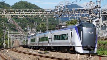 E353系電車 特急 スーパーあずさ 中央本線 四方津~上野原間 牛肉弁当
