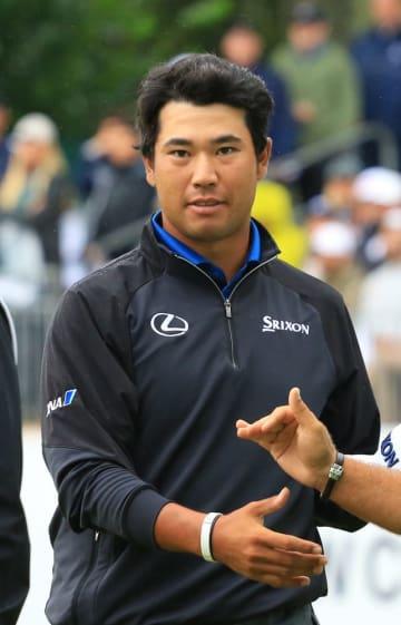 BMW選手権ゴルフでホールアウトした松山英樹=11日、ニュータウンスクエア・アロニミンクGC(共同)