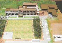 震災遺構「旧門脇小」の基本設計案を基に作った模型