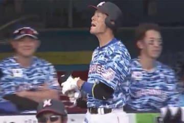 ロッテ・岡大海が移籍後初本塁打を放つも…【画像:(C)PLM】