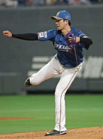 7回2失点で11勝目を挙げた日本ハム・上沢=札幌ドーム