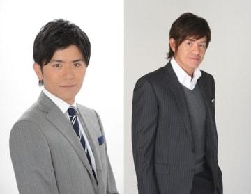 「火曜サプライズ」のMCに就任した青木源太アナウンサー(左)とヒロミさん=日本テレビ提供