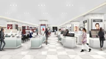 1階化粧品売り場のリニューアルイメージ(小田急百貨店発表資料より)