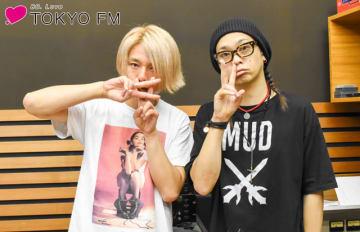 花見桜こうき(ヴォーカリスト・幸樹)さん(左)と、番組パーソナリティのMUCC・逹瑯(右)