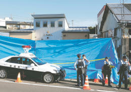 男に襲われ、応対した巡査長が死亡した仙台東署東仙台交番=19日午前7時30分ごろ、仙台市宮城野区東仙台2丁目