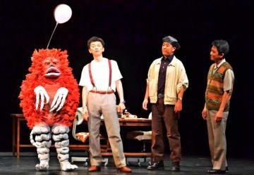 友好珍獣ピグモンも登場する舞台の一場面