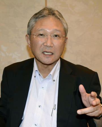 インタビューに答える日本政策投資銀行の杉元宣文常務執行役員