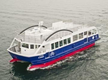 10月からしまなみ海道エリアに就航するサイクルシップ・ラズリ(写真: せとうち観光推進機構)